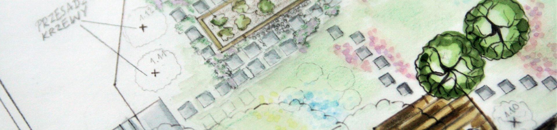 inwentaryzacja szkic projekt ogrodu metamorfozy ogrodu plan nasadzen